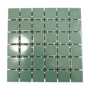 Pastilha de Porcelana Ritmo Verde Musgo Brilhante 5x5 01m²