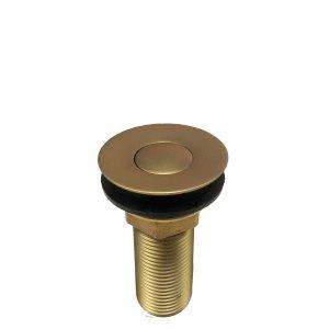 Válvula Lavatório Click Dourado Fosco Para Banheiro