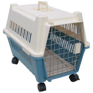 Caixa Transporte Pet Cães e Gatos - Azul