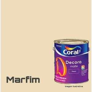 Tinta Acrílica Fosca Premium Decora Galao 3,2L Coral - MARFIM
