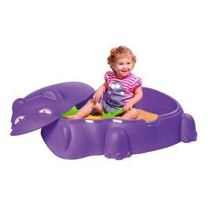 Piscina Infantil Hipopótamo Com Tampa Roxo/verde Até 30kg Belfix