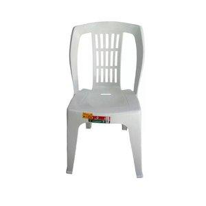 Kit 4 Cadeira Plástica Bistrô Branca Reforçada Capac. 182kg