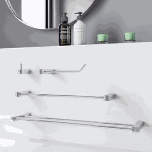 Kit de Acessórios Banheiro Toalheiro Duplo Prátika 824PK