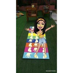 Amarelinha maluca - tapete interativo - jogo pés e mãos