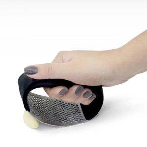 Amassador Triturador Espremedor de Alho Inox Manual Cozinha