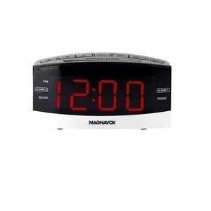 Relógio Rádio Despertador Magnavox 2 Alarmes Am/Fm