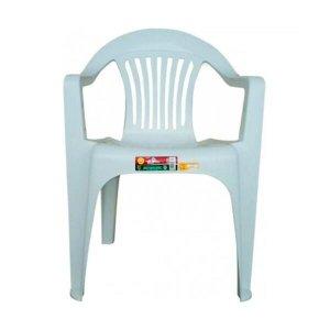 Kit 6 Cadeira Plástica Poltrona Branca Carga Máxima 182kg