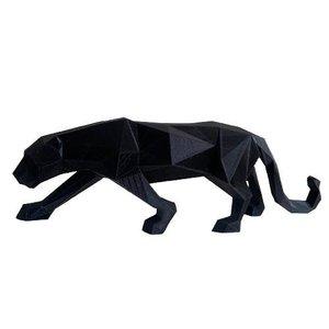 Decoração Escultura Pantera Negra G em Impressão 3D Low Poly