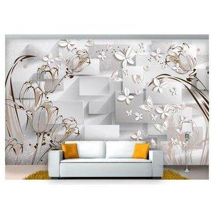 Papel De Parede Flores Textura 3D Xfl190 3M²