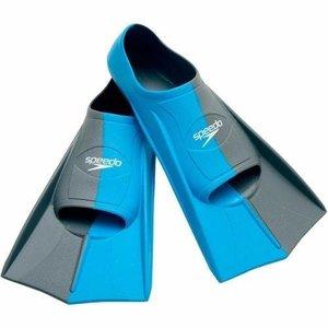 Nadadeira Pé De Pato Speedo Dual Training Fin Azul Cinza Claro 34 35