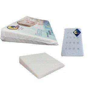 Kit Travesseiros Anti-refluxo Bebê para Berço, Carrinho e Anti-sufocante Lou Art Branco