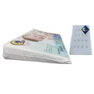 kit Travesseiros Anti-refluxo Bebê para Berço e Anti-sufocante Lou Art Branco