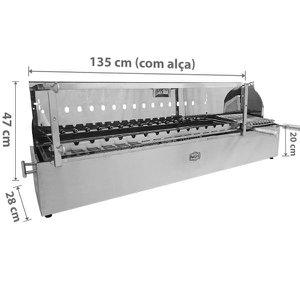 Churrasqueira Giratória Para Espetinho - Inox A Carvão - Para 15 Espetinhos