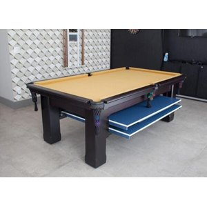 Mesa de Sinuca e Ping Pong - 2,52x1,40 - Bordo