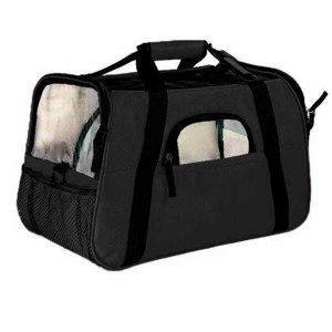 Bolsa De Transporte Cães E Gatos Grande The Dog Bag Preta