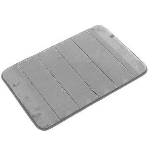 Tapete de Banheiro - Super Soft - 60cm x 40cm - Cinza - Blanco