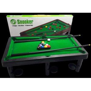 Mesinha de Sinuca Infantil Snooker Brilhar Com 02 Tacos