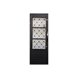 Porta Postigo De Aço Abertura Lado Direito Xadrez - 80x210cm
