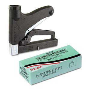 Grampeador Manual Rocama 106 Premium + 2500 Grampos 106/8