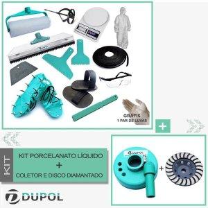 Kit Ferramentas Porcelanato + Coletor + Disco