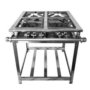 Fogão Industrial Aço Inox Baixa Pressão 4 Bocas - Standard (2 Simples E 2 Duplas)