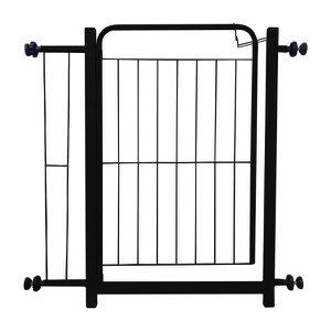 Portão De Proteção Para Cães Com Extensor 69x5x81cm Preto