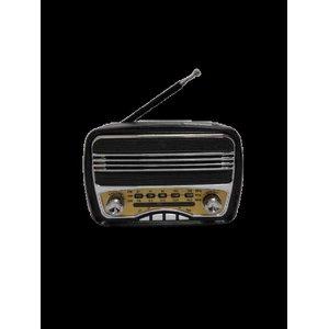 Rádio Retrô Mini Com Bluetooth Usb Mp3 Am/fm Song Star - Preto
