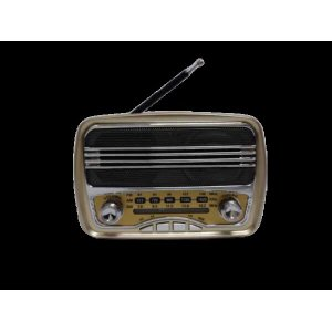 Rádio Retrô Mini Com Bluetooth Usb Mp3 Am/fm Song Star - Dourado