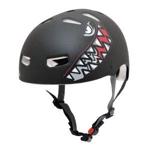 Capacete Infantil Kraft Bike Tubarão Preto PP - NBR16175