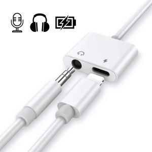 Adaptador 2 Em 1 Fone P2 e Carregador iPhone 7 8 X S Plus