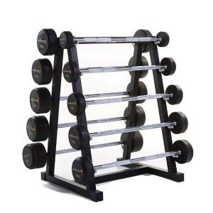 Kit 10 Barras Montadas Emborrachadas 10 a 46kg Wellness - WK031 WK031