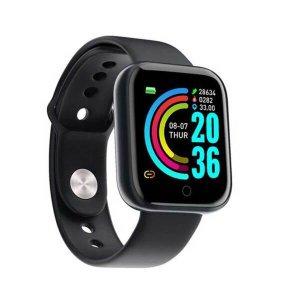 Relogio Inteligente Smartwatch D20 Bluetooth Preto