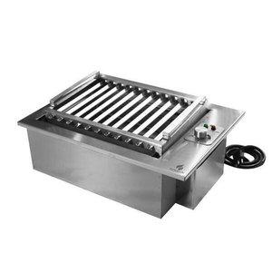 Churrasqueira Elétrica De Embutir Bancada Inox 49X36Cm 220V