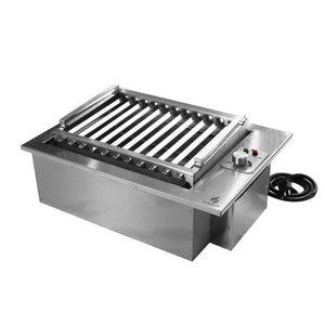 Churrasqueira Elétrica De Embutir Bancada Inox 49X36Cm 110V