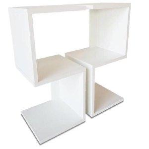 Combo 2 Mesas De Cabeceira Em S Branco 60X25X25