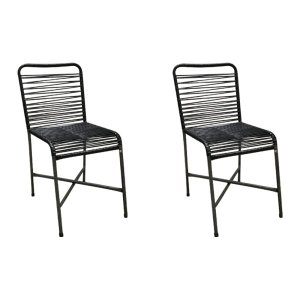 Kit 2 Cadeiras para Varanda Preta Copa