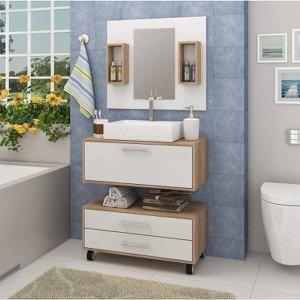 Gabinete para Banheiro Sem Cuba, Espelheira e Gaveteiro Espresso Móveis