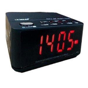 Radio Relógio Fm Bluetooth Le-674 Despertador Digital