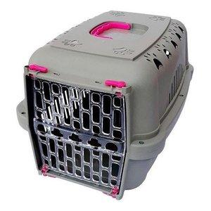 Caixa Transporte Para Cães E Gatos Durapets Rosa Nº3