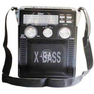 Rádio Am Fm Sw Usb Cartão Sd Mp3 Auxilia P2 Lanterna Bateria Bivolt - Preto