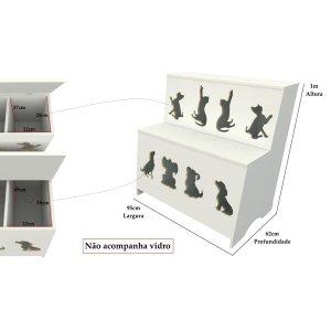 Expositor De Ração: Pet Box Kids 08 Divisões