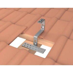 Estrutura Suporte Fixador para Perfil Painel Solar Galvanizado para Telha Cerâmica / Cimento com 4 Un
