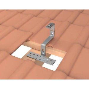 Estrutura Suporte Fixador para Perfil Painel Solar Galvanizado para Telha Cerâmica / Cimento com 12 Un