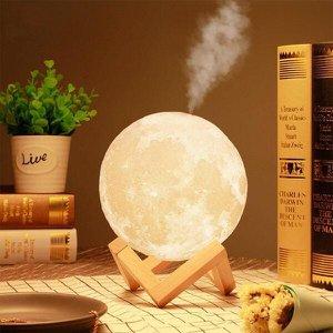 Luminária e Umidificador de Ar Lua Led
