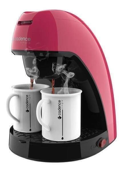 Cafeteira Elétrica Cadence Single Colors Rosa 110v - Caf217