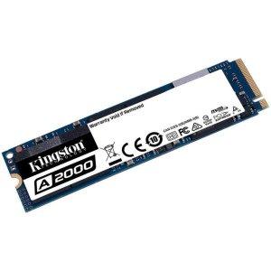 SSD M.2 250GB Kingston A2000 - NVMe - Leitura 2000 MB/s - Gravação 1100MB/s - SA2000M8/250G