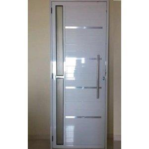 Porta Lambril com puxador friso e Vidro Linha Premium