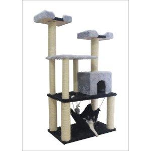 Arranhador Para Gato Madagascar Castelo Cinza
