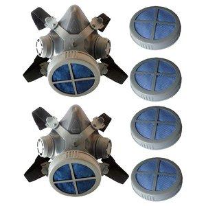 Kit Máscaras respiratórias Mastt 1/4 facial e filtros pó