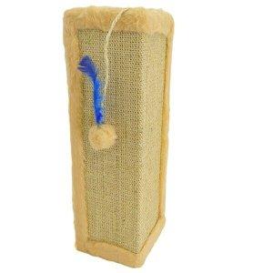 Protetor de Canto pet in box para sofá ou cama box arranhador brinquedo para gatos 4 unidades - bege